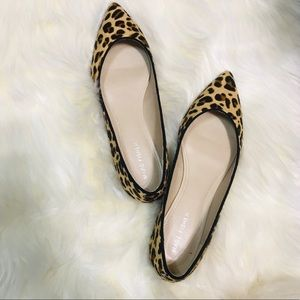 NWOB Marc Fisher Alanyz Leopard Calf Hair Flats